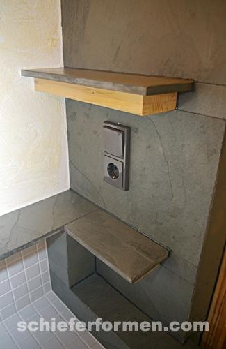 Bodenplatte schiefer 30 x 60 x 1cm grau grey brazil - Badezimmer ablage holz ...