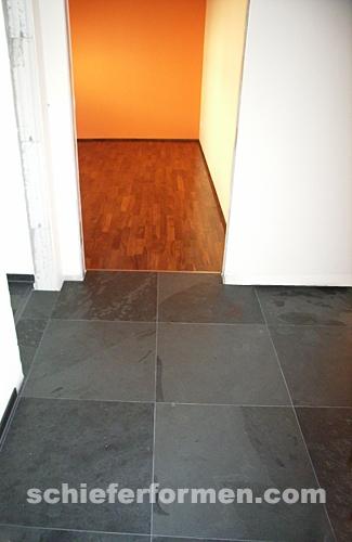 bodenplatte schiefer 60 x 60 x 1cm schwarz black brazil. Black Bedroom Furniture Sets. Home Design Ideas