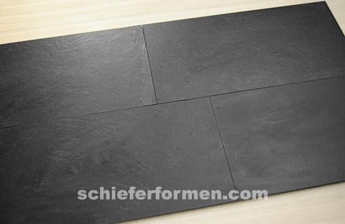 Muster schiefer 30 x 60 x 1cm schwarz black - Fliesen verlegen 30x60 muster ...